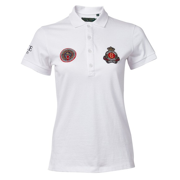 Holland Cooper Womens White Team Polo Shirt