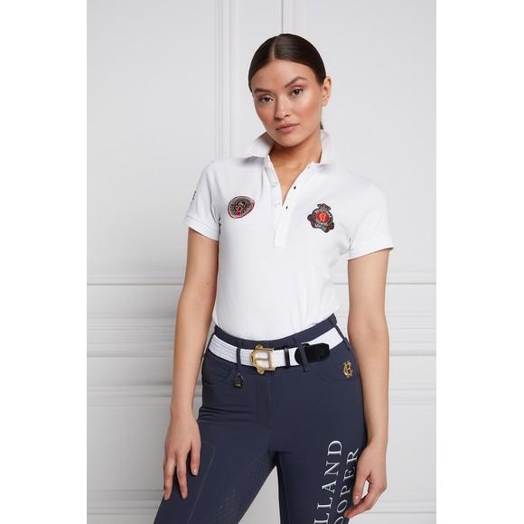 Holland Cooper Womens White Team Polo Shirt