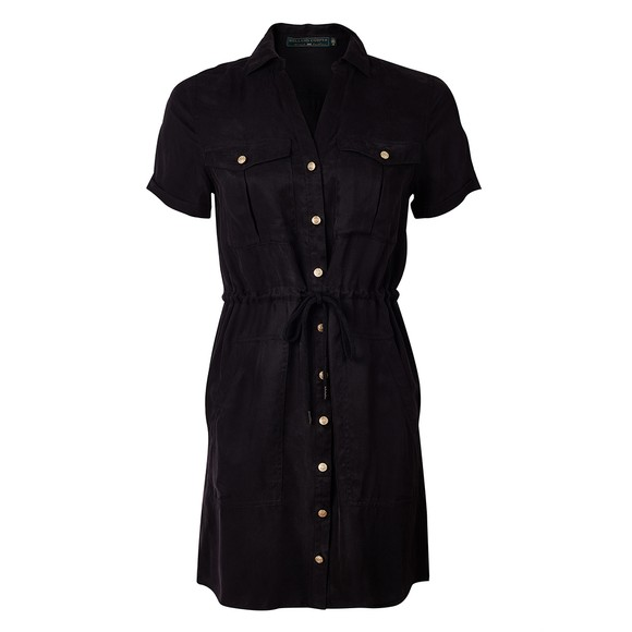Holland Cooper Womens Black Military Shirt Dress