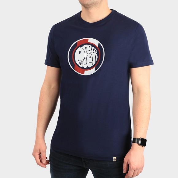Pretty Green Mens Blue Tilby Logo T Shirt main image