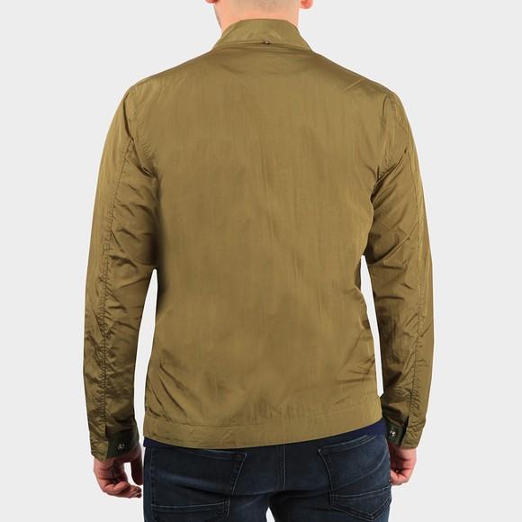 Pretty Green Mens Green Crinkle Nylon Jacket main image