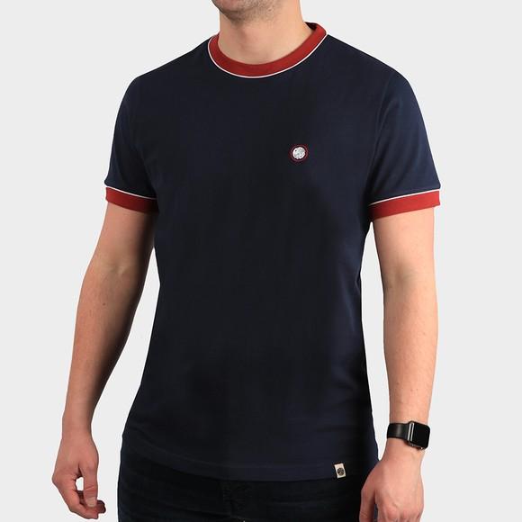 Pretty Green Mens Blue Tilby Tipped T Shirt main image