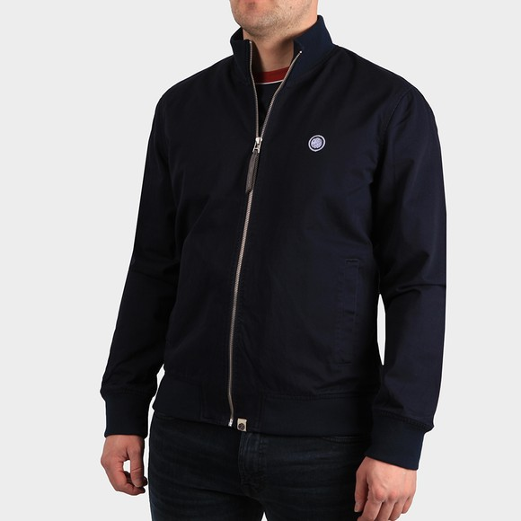 Pretty Green Mens Blue Cotton Track Jacket