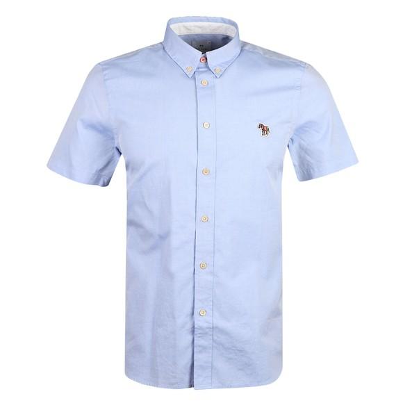 PS Paul Smith Mens Blue SS Zebra Shirt