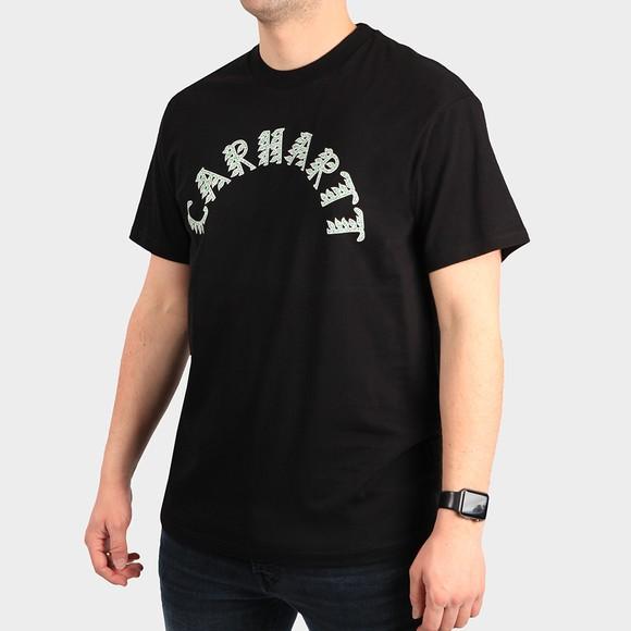Carhartt WIP Mens Black Plant Script T Shirt