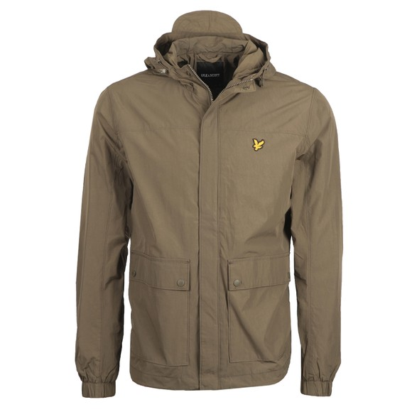 Lyle and Scott Mens Green Hooded Pocket Jacket