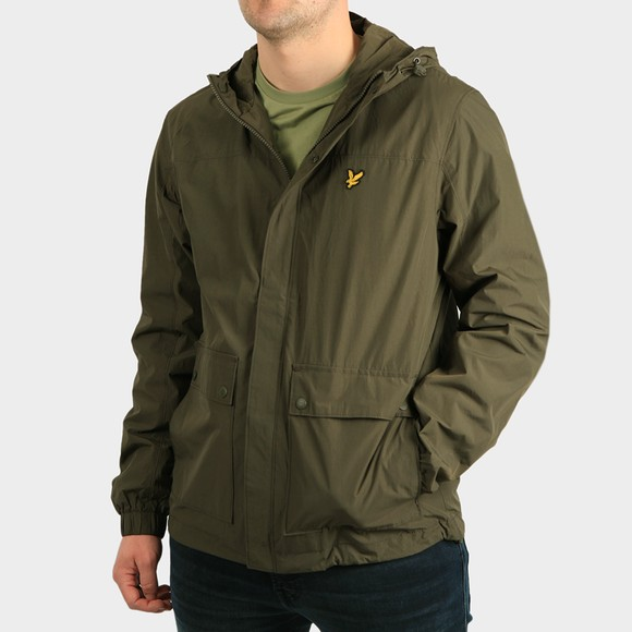 Lyle and Scott Mens Green Hooded Pocket Jacket main image