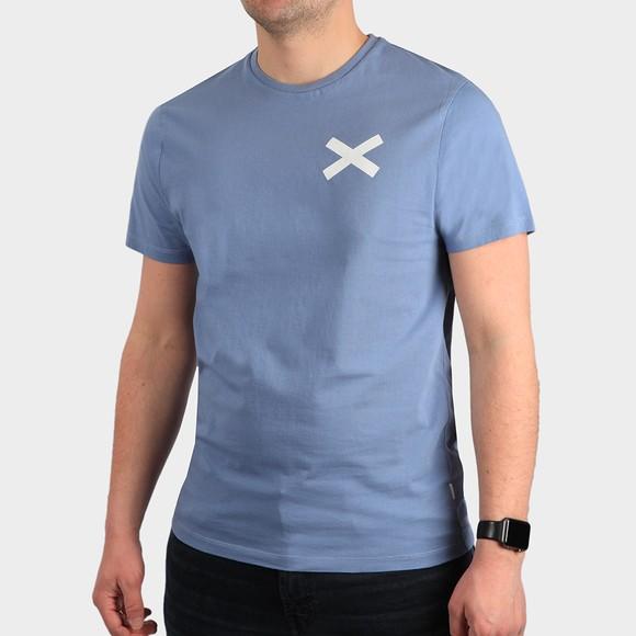 Edmmond Studios Mens Blue Cross T Shirt