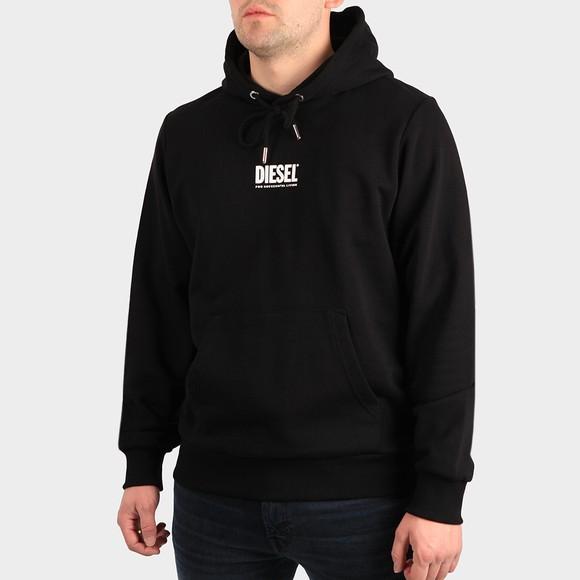 Diesel Mens Black Girk Centre Logo Hoody main image