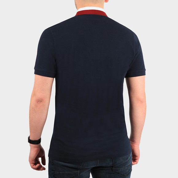 Pretty Green Mens Blue Tilby Contrast Collar Polo Shirt main image