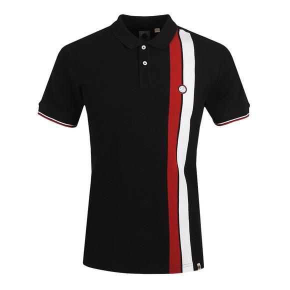 Pretty Green Mens Black Colour Block Polo Shirt main image