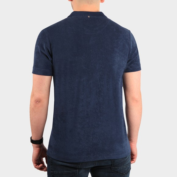 Pretty Green Mens Blue Tilby Towelling Polo Shirt main image
