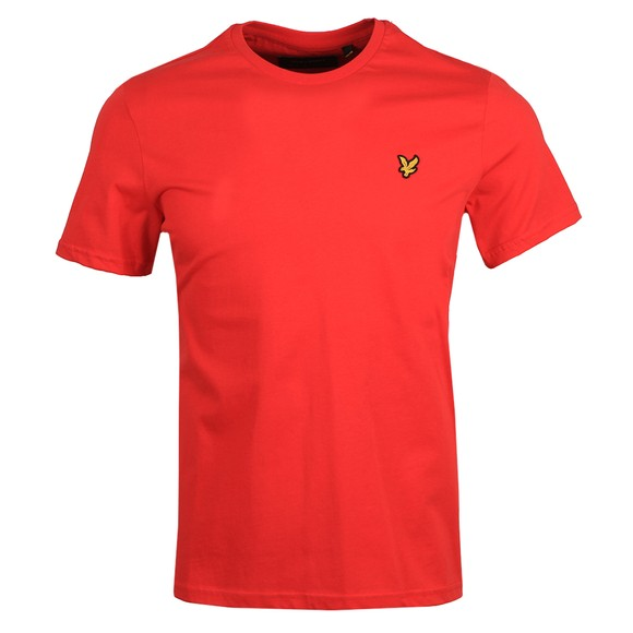 Lyle and Scott Mens Red Basic T-Shirt