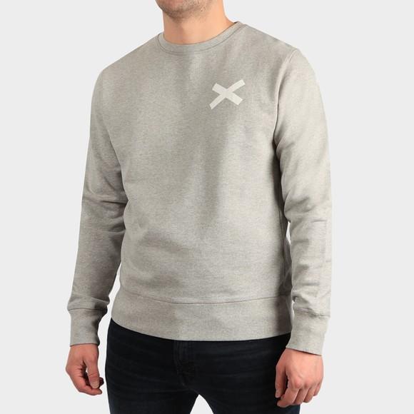 Edmmond Studios Mens Grey Cross Crew Sweatshirt