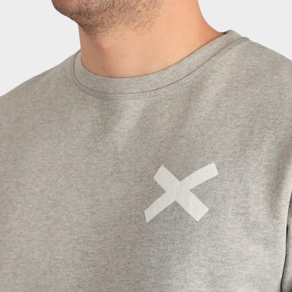 Edmmond Studios Mens Grey Cross Crew Sweatshirt main image