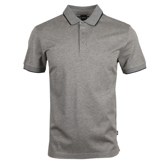 BOSS Mens Grey Formal Prout 26 Polo Shirt