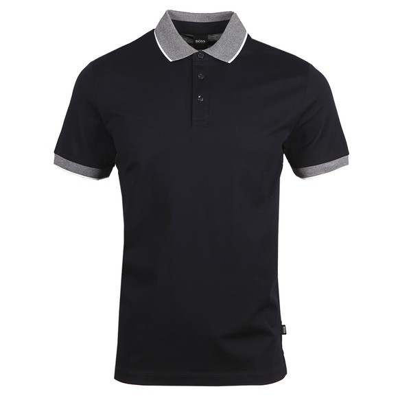 BOSS Mens Blue Formal Prout 26 Polo Shirt