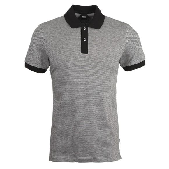 BOSS Mens Black Formal Parlay 112 Polo Shirt