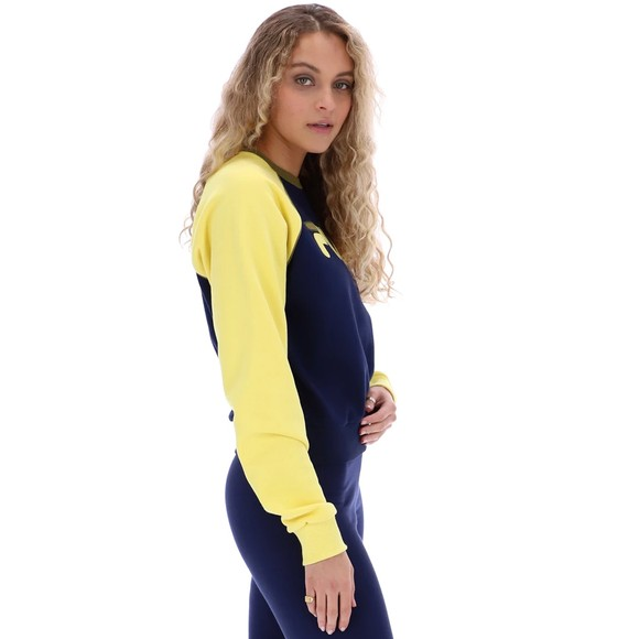 Fila Womens Blue Riccarda Colour Block Sweatshirt main image