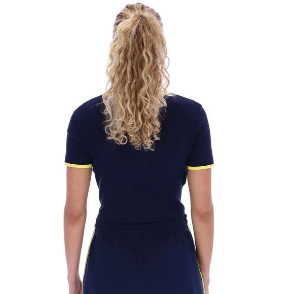 Fila Womens Blue Perla Ribbed Cropped T Shirt