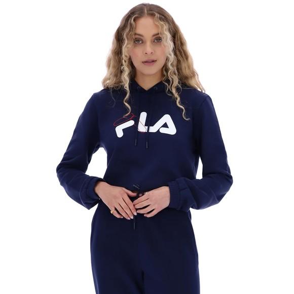 Fila Womens Blue Rizzo Boxy Crop Hoody