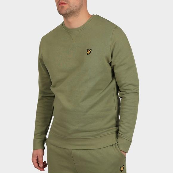 Lyle and Scott Mens Green Crew Neck Sweatshirt