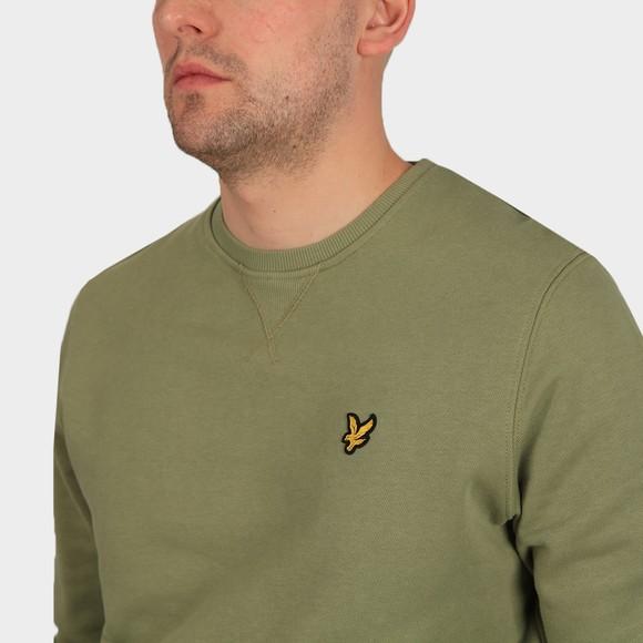 Lyle and Scott Mens Green Crew Neck Sweatshirt main image