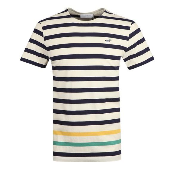 Edmmond Studios Mens Off-White Intruder Stripe Duck T Shirt