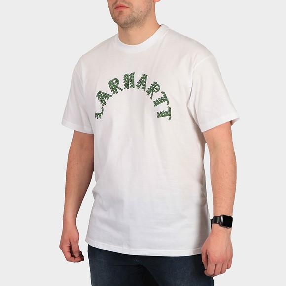 Carhartt WIP Mens White Plant Script T Shirt