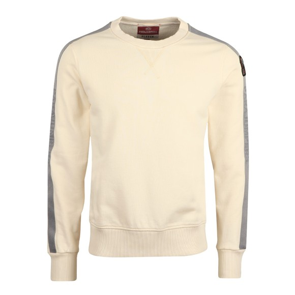 Parajumpers Mens Off-White Armstrong Taped Sweatshirt