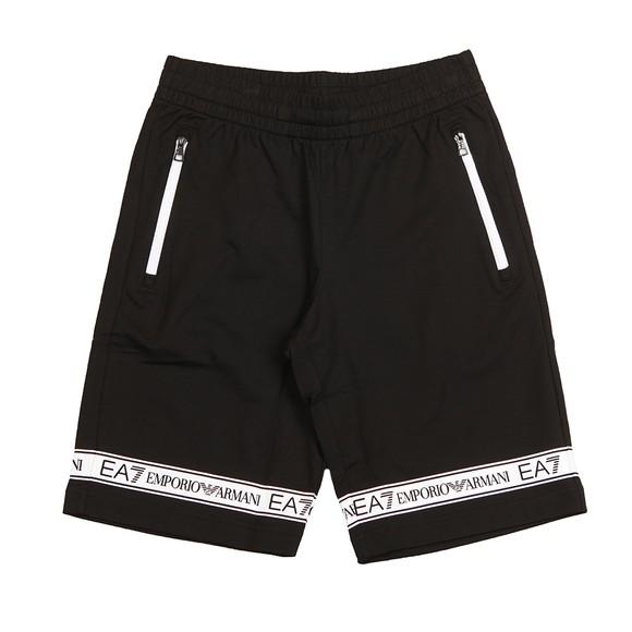 EA7 Emporio Armani Mens Black Tape Jersey Short