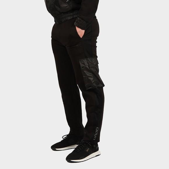 HUGO Mens Black Durimi Nylon Tape Jogger