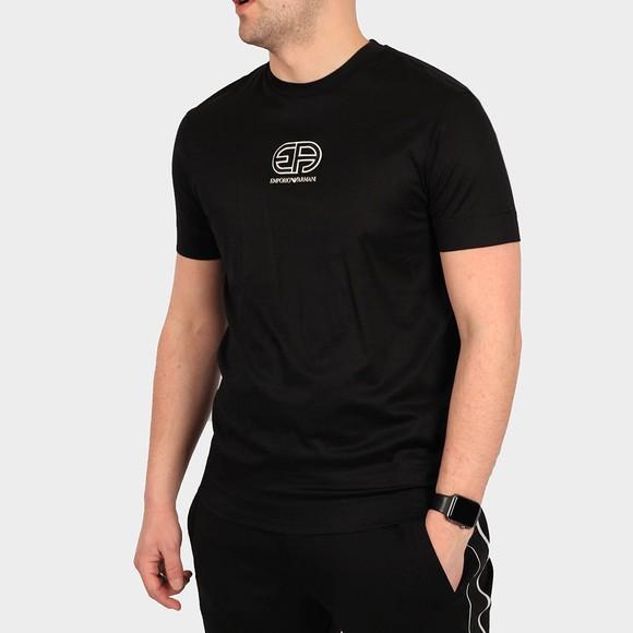 Emporio Armani Mens Black 3K1TAC Logo T Shirt