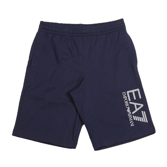 EA7 Emporio Armani Mens Blue Hex Logo Jersey Short