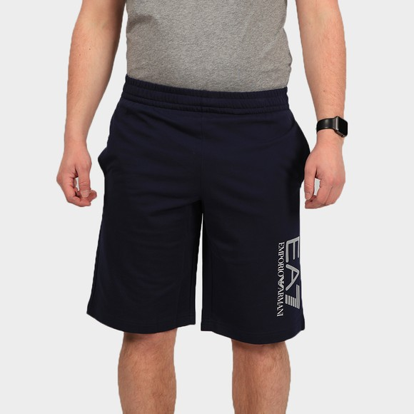 EA7 Emporio Armani Mens Blue Hex Logo Jersey Short main image