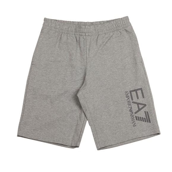 EA7 Emporio Armani Mens Grey Hex Logo Jersey Short main image