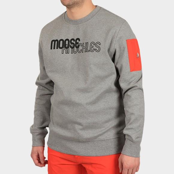 Moose Knuckles Mens Grey Transit Sweatshirt