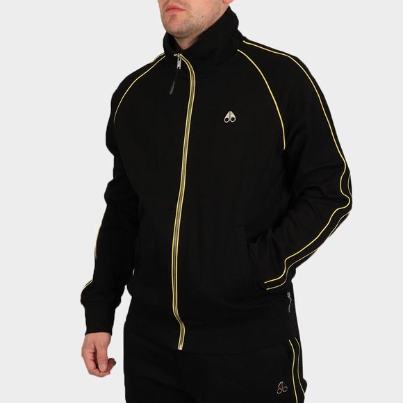 Moose Knuckles Mens Black Stereogram Zip Sweatshirt