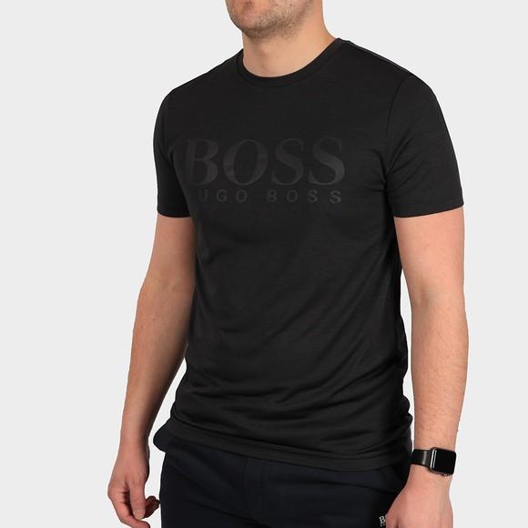BOSS Mens Black Athleisure Teetech T Shirt