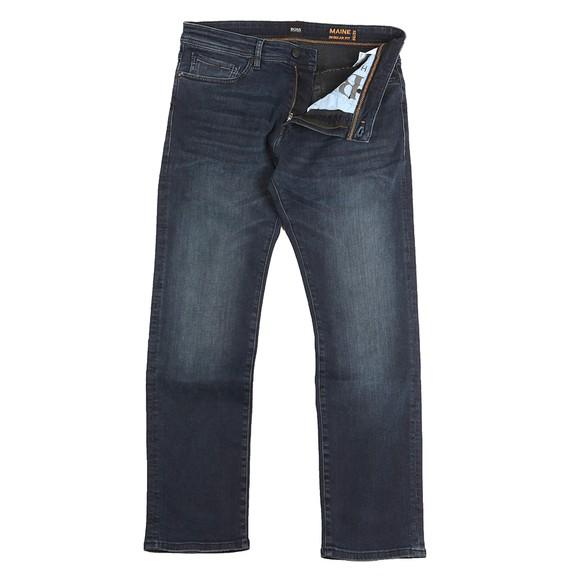 BOSS Mens Blue Casual Maine Regular Fit Jean
