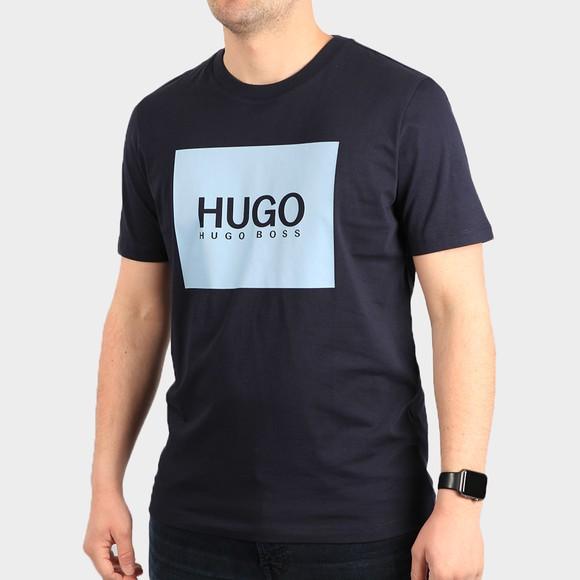 HUGO Mens Blue Dolive U212 T Shirt