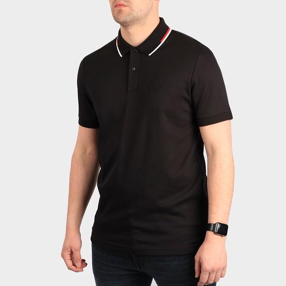 BOSS Mens Black Formal Parlay 104 Tipped Polo Shirt