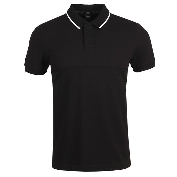 BOSS Mens Black Athleisure Paule 5 Polo Shirt