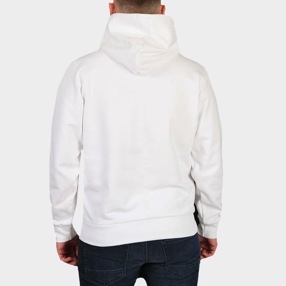 Diesel Mens White Girk Centre Logo Hoody main image