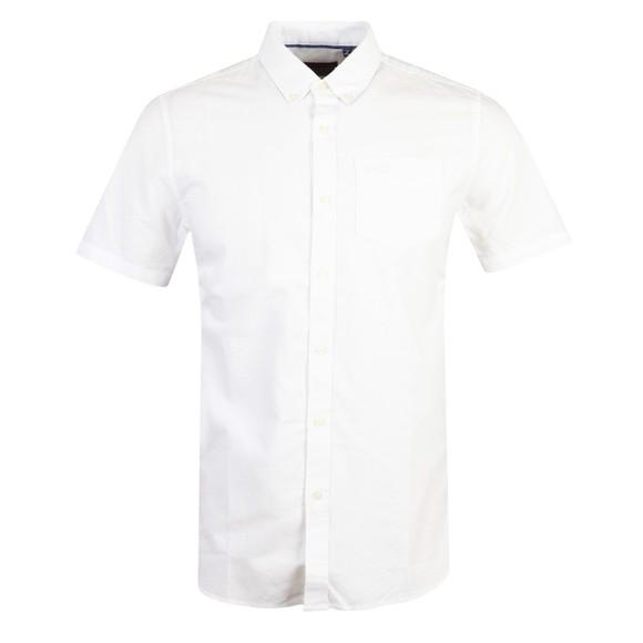 Superdry Mens White Classic University Oxford SS Shirt