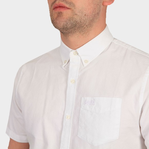 Superdry Mens White Classic University Oxford SS Shirt main image