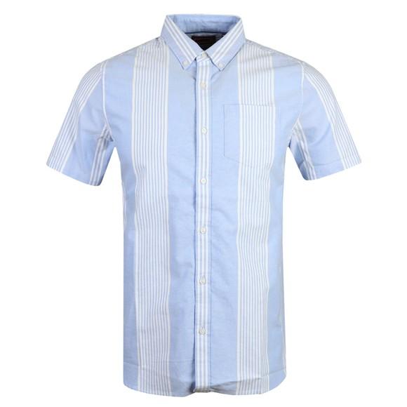Superdry Mens Blue Classic East Coast Oxford SS Shirt