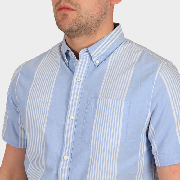 Superdry Mens Blue Classic East Coast Oxford SS Shirt main image