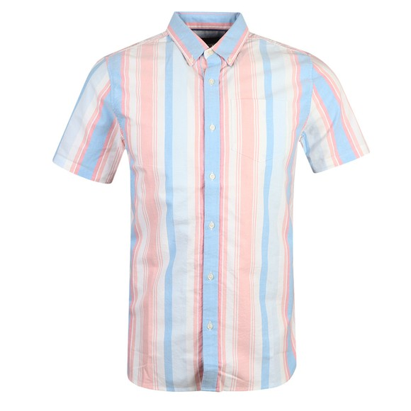 Superdry Mens Multicoloured Classic East Coast Oxford SS Shirt