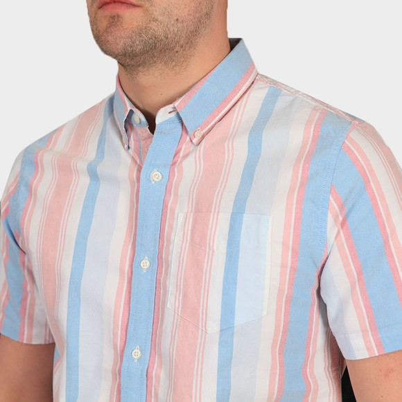 Superdry Mens Multicoloured Classic East Coast Oxford SS Shirt main image